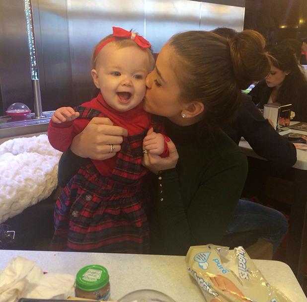Brooke Vincent with her goddaughter Dollie, 31 March 2015