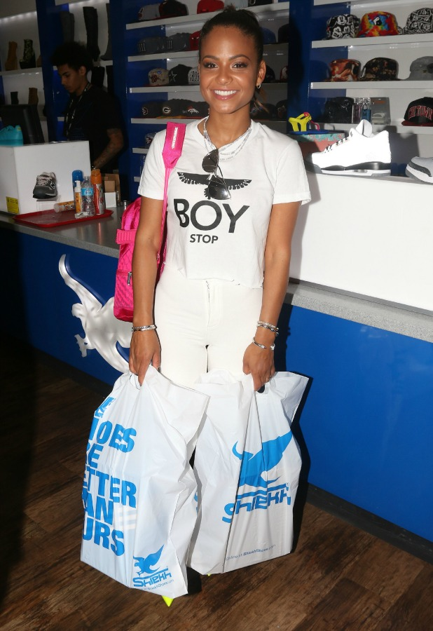 Christina Milian shopping at LA Gear Store in Hollywood, 31 March 2015
