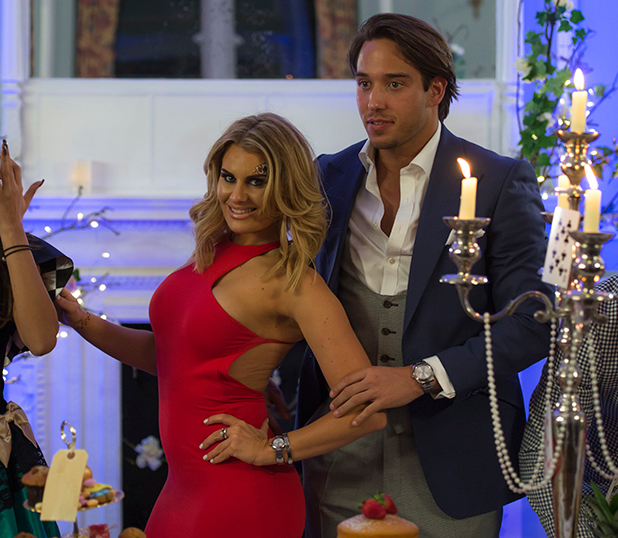 The Only Way is Essex' cast filming, Britain - 01 Apr 2015 Lockie and Danielle Armstrong
