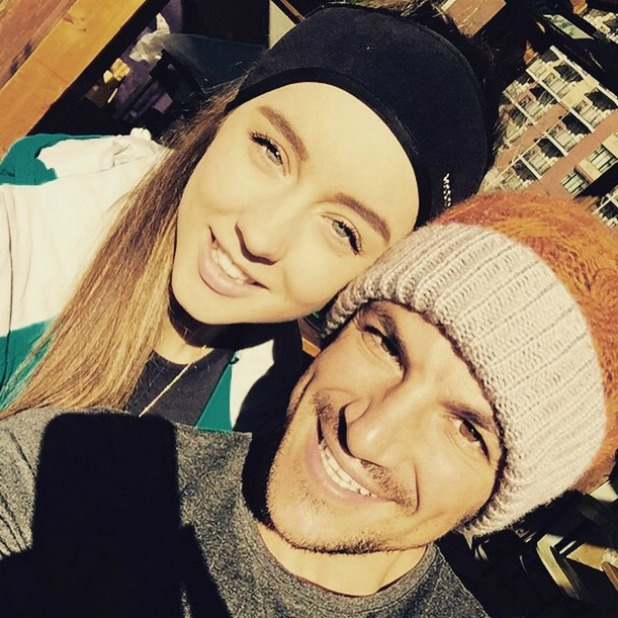 Peter Andre and Emily MacDonagh on their skiing holiday in Canada, 31 March 2015