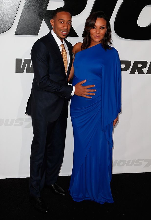 Ludacris and wife Eudoxie at the Fast & Furious 7 premiere in LA, 1 April 2015