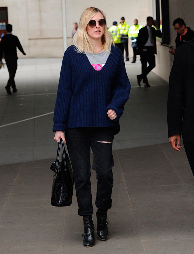 Fearne Cotton leaving the BBC studios, 30 March 2015
