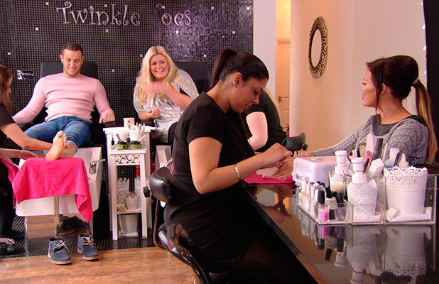 TOWIE episode to air 1 April: Elliott gets a pedicure with Gemma