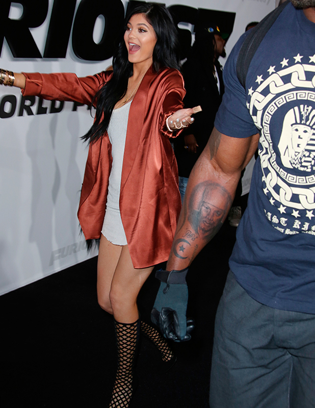 Kylie Jenner at 'Fast and Furious 7' film premiere, Los Angeles, America - 01 Apr 2015