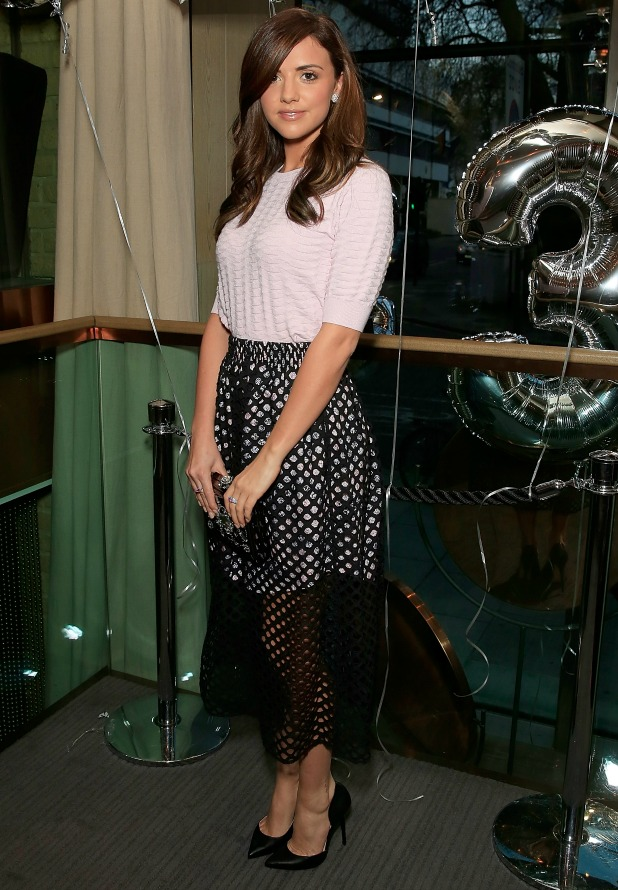 Lucy Mecklenburgh attends as Spectator Life magazine celebrates its third birthday at the Belgraves Hotel on March 31, 2015 in London, England.