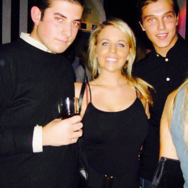 Lydia Bright, Arg and Lewis Bloor in a throwback picture from six years ago, posted 2 April 2015