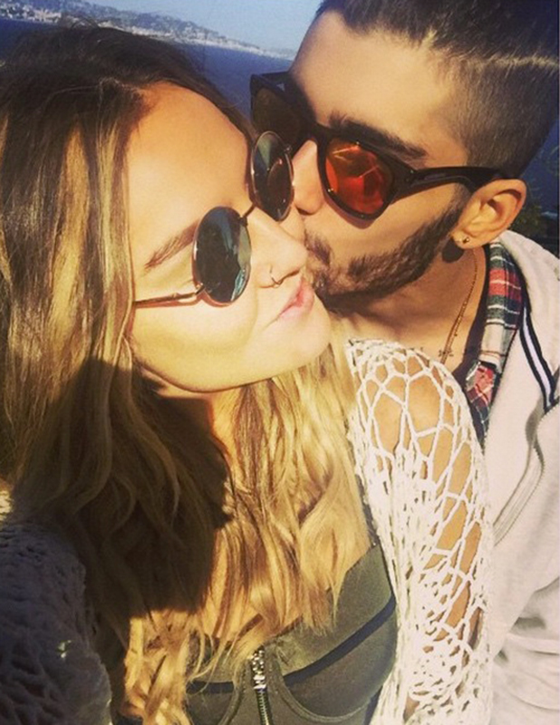 Zayn Malik kisses Perrie Edwards, Instagram, 1 April 2015