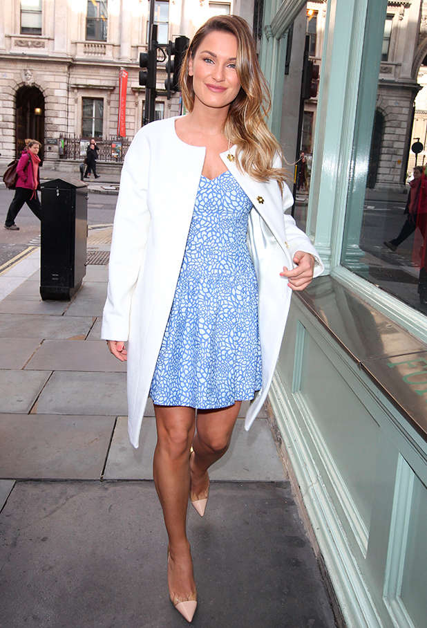 Sam Faiers out in London, 31 March 2015