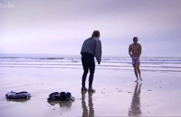TOWIE ep aired 29 March 2015: Jake and Chloe on the beach in Wales