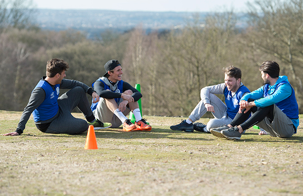 'The Only Way is Essex' cast filming, Britain - 27 Mar 2015 Dan Edgar, Jake Hall, James Argent and James Bennewith get into the Boot Camp.
