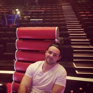 Ben Foden joins wife Una on set of The Voice of Ireland, Instagram 4 April