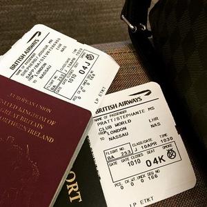 Josh Shepherd shares photo of plane tickets, Instagram 10 April