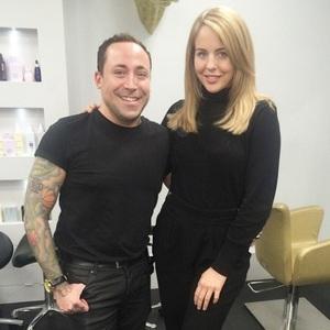 Lydia Bright unveils new blonder hair, Instagram 7 April