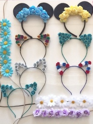 Flower Children Only Meow Crowns - sent to Paris Hilton for Coachella, 9 April 2015
