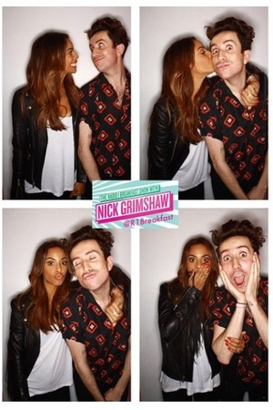 Rochelle Humes with Nick Grimshaw on his Radio 1 show - London - 04/09/2015.