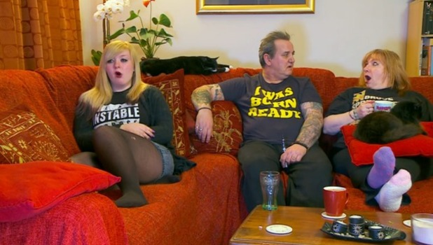 The Woerdenweber family without 'Silent' Jay Makin on Gogglebox, 10 April 2015