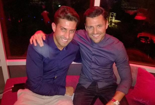 TOWIE's Arg hangs out with BFF Mark Wright at Jog On To Cancer event in London - 9 April 2015.