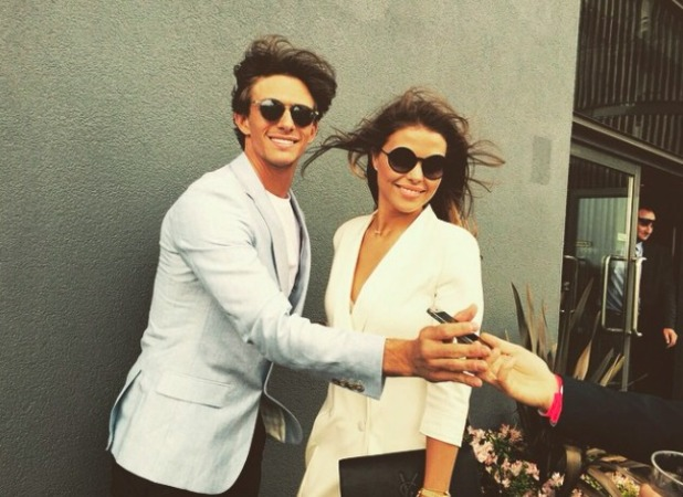 Chloe Lewis and Jake Hall look cosy at Aintree, 10 March 2015