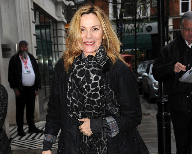 Kim Cattrall sighting at BBC Radio 2 on April 3, 2015 in London, England.