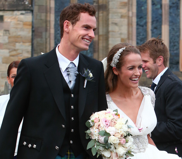 The wedding of Andy Murray and Kim Sears at Dunblane Cathedral, 11 April 2015