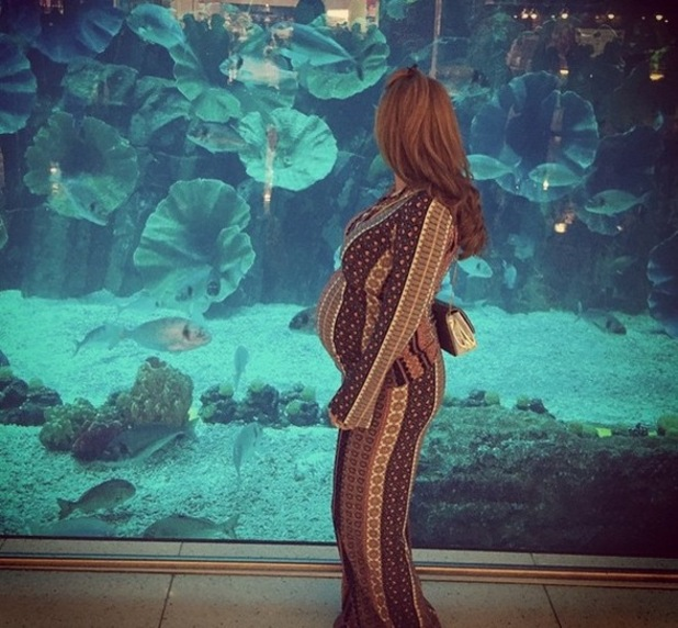 Billi Mucklow shows off baby bump at Dubai Aquarium, Instagram 8 April