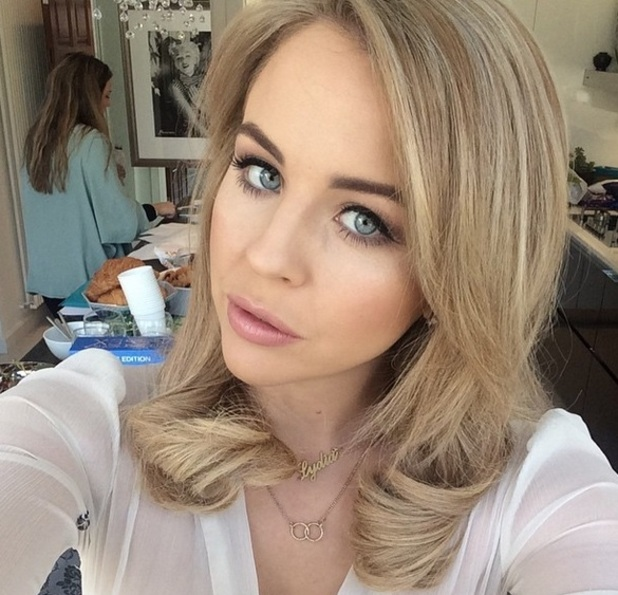 Lydia Bright shows off her blonder and shorter hair, Instagram 7 April