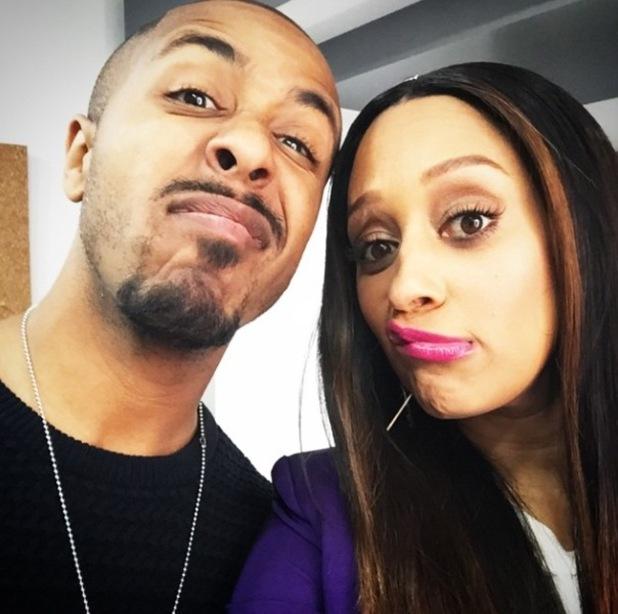 Marques Houston and Tia Mowry enjoy mini Sister, Sister reunion - 8 April 2015.