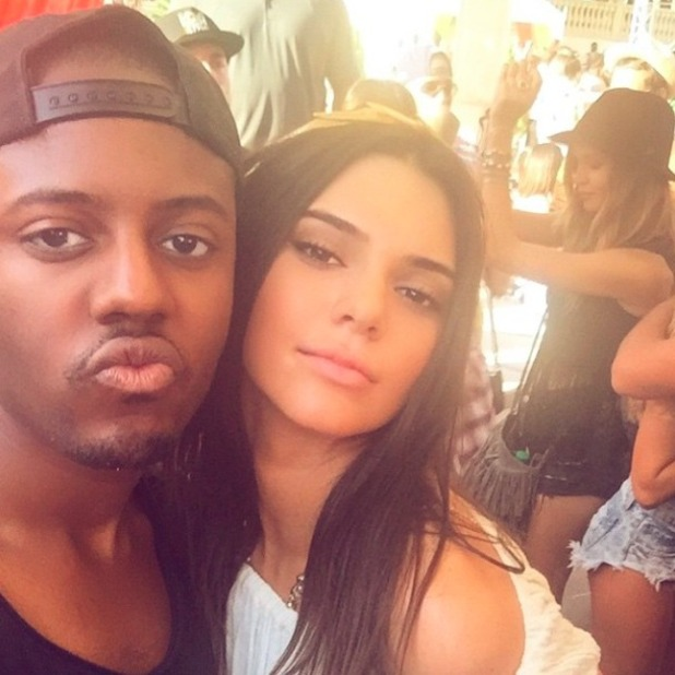 TOWIE star Vas J Morgan parties with Kendall Jenner at Coachella, 11 April 2015