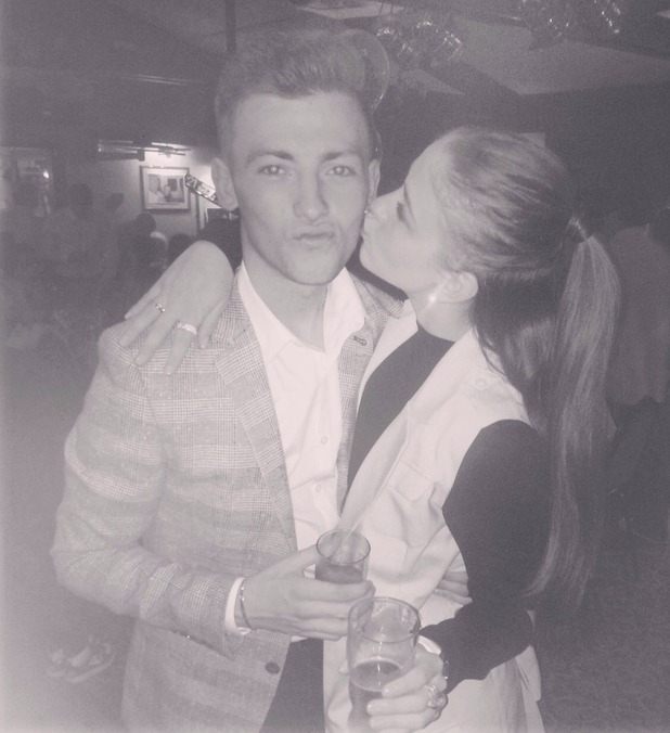 Brooke Vincent's with her cousin Ryan - 7 April 2015.