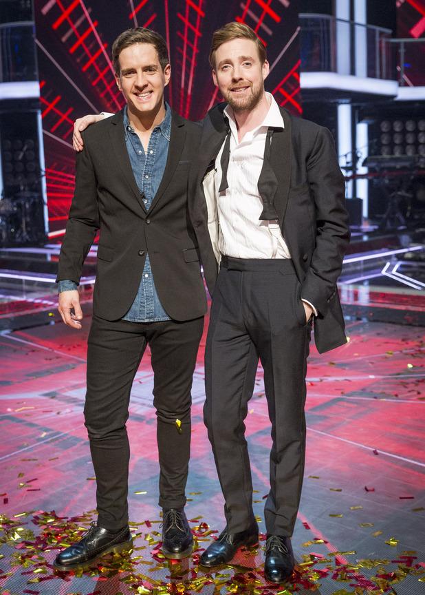 The Voice UK winner Stevie McRorie and mentor Ricky Wilson - 4 April 2015.