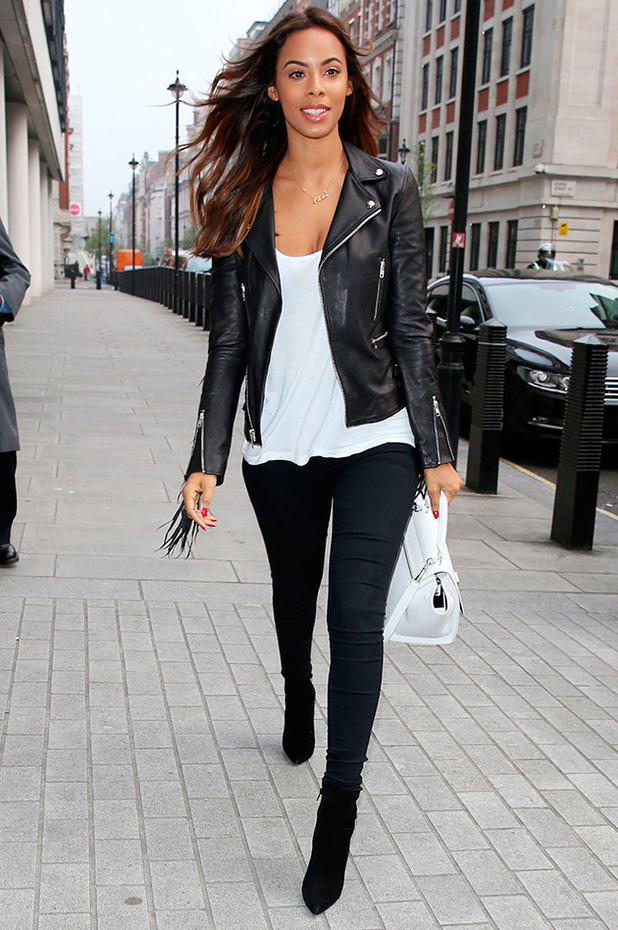 Rochelle Humes at the studios of BBC Radio 1 9 Apr 2015