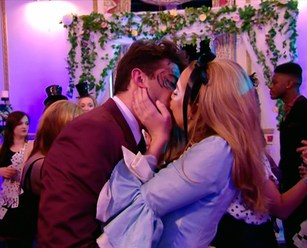After reading James Argent's letter, Lydia tears it up throws it away and agrees to to getting back together with him during his 'Alice in Wonderland' themed party on 'The Only Way Is Essex', Shown on ITVBe, 5 April 2015