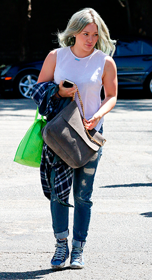 Hilary Duff arriving at a dance studio in West Hollywood, 8 April 2015