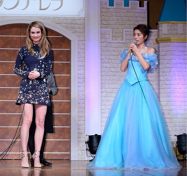'Cinderella' film press conference, Tokyo, Japan - 07 Apr 2015 Lily James