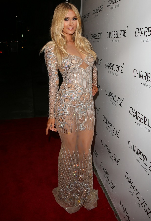 Paris Hilton, Charbel Zoe Haute Couture store launch, 7 April 2015