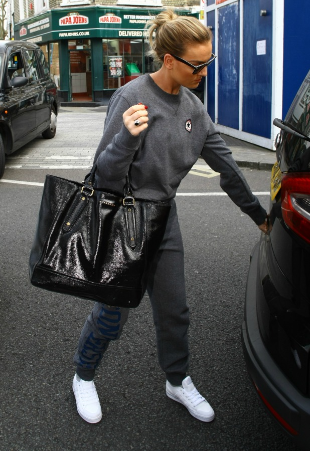 Little Mix seen leaving a recording studio. 8 April 2015