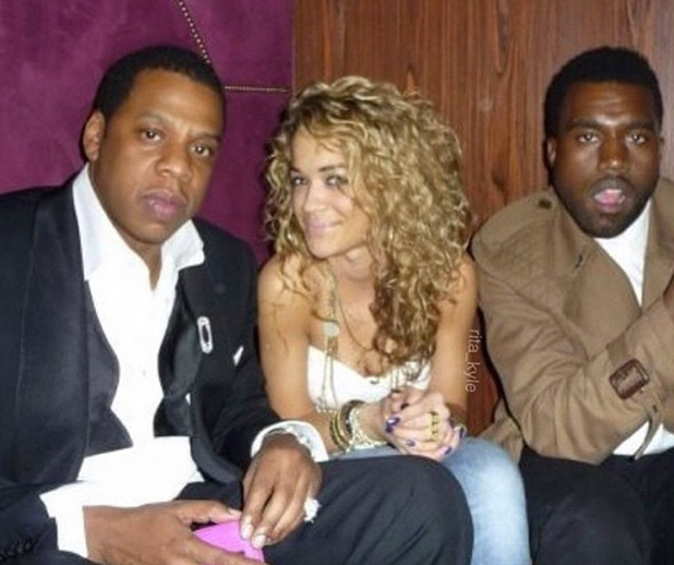 Rita Ora remembers when she was signed to Roc Nation by Jay Z. Kanye West also pictured. 2009