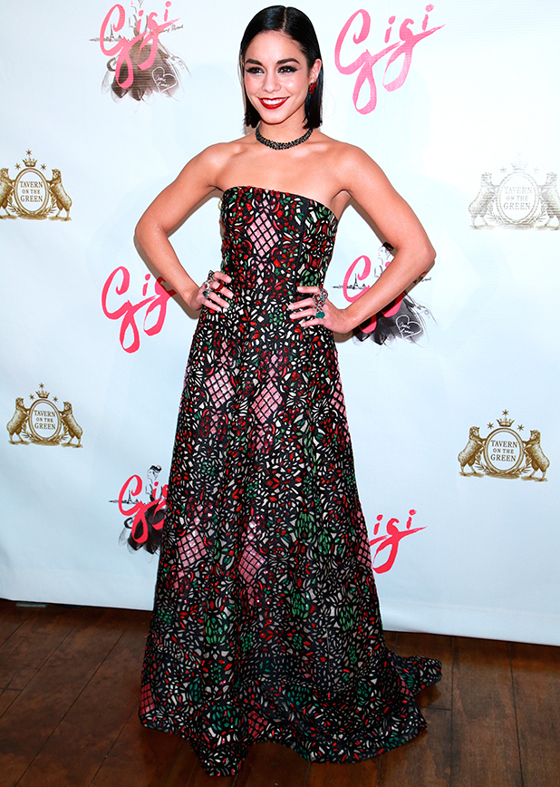 Vanessa Hudgens, Broadway musical opening night after party for Gigi held at Tavern On the Green, 8 April 2015
