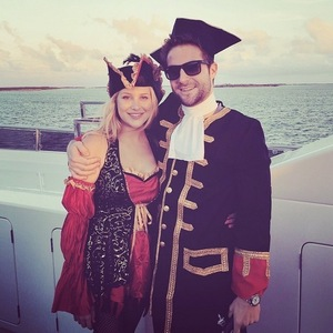 Josh Shepherd and Stephanie Pratt dress as pirates on Bahamas holiday, Instagram 14 April