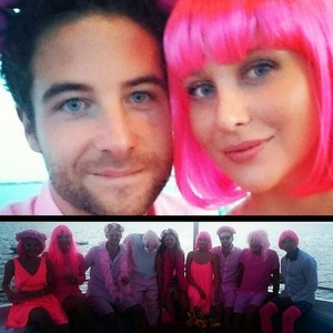 Josh Shepherd throws Stephanie Pratt pink-themed party, Instagram 11 April
