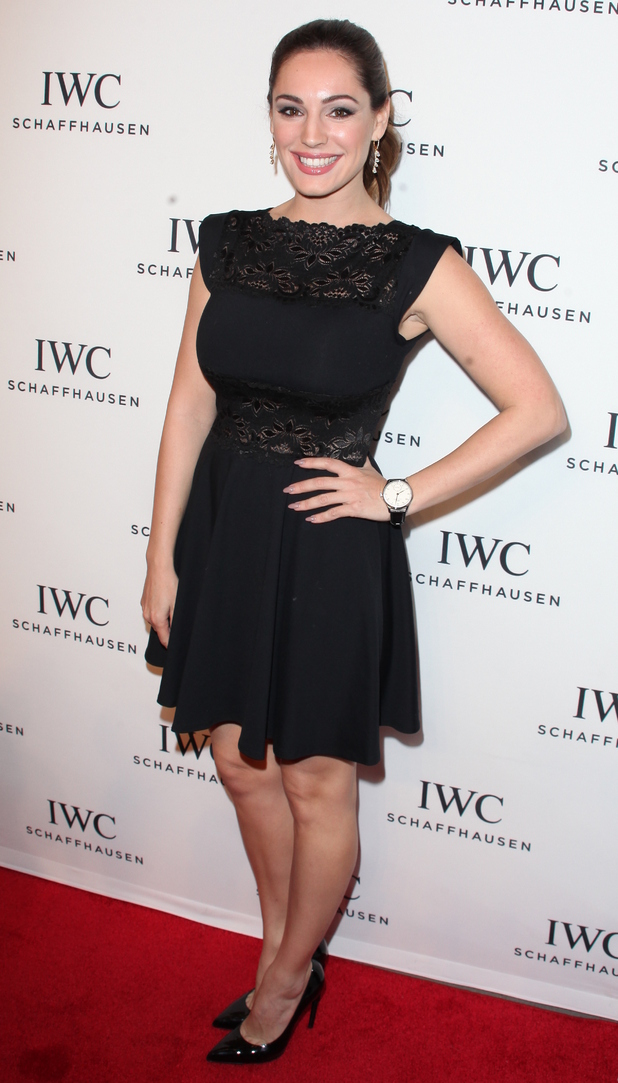 Kelly Brook at the IWC Schaffhausen third annual 'For the Love of Cinema' dinner during Tribeca Film Festival at Spring Studios - 16 April 2015.