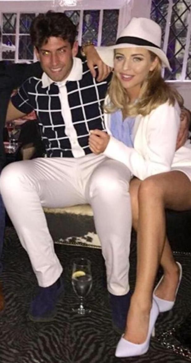 TOWIE's James 'Arg' Argent and Lydia Bright enjoy jazz night in Sheesh Chigwell - 16 April 2015.