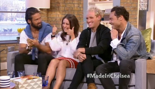 Louise Thompson with Made In Chelsea co-stars on This Morning, ITV 14 April