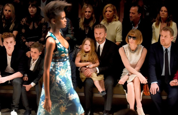 James Corden next to Anna Wintour 16 april