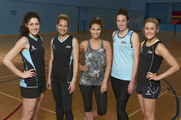 Ferne McCann trains with netball team Surrey Storm, Sky Sports 14 April