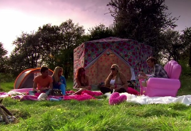 The Only Way Is Essex cast enjoying a glamping trip in series two
