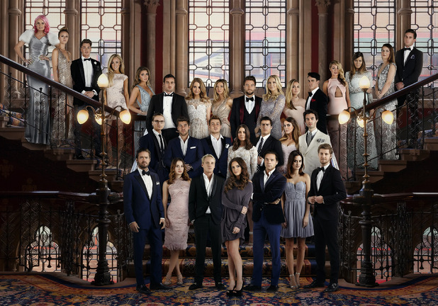 Series nine Made In Chelsea press shot - cast photo. April 2015.