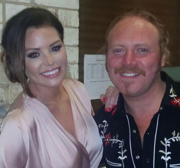 TOWIE's Jessica Wright poses backstage with Keith Lemon on Celebrity Juice - 15 April 2015.