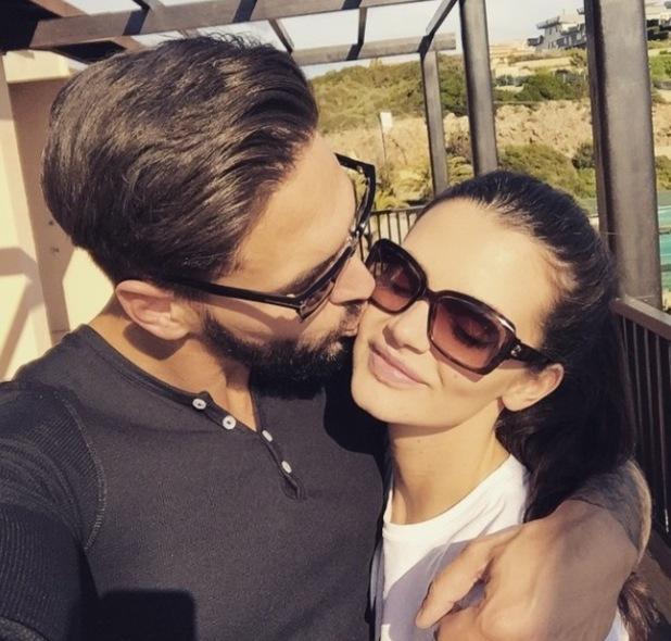 Emma McVey kisses boyfriend Mario Falcone - 12 April 2015.
