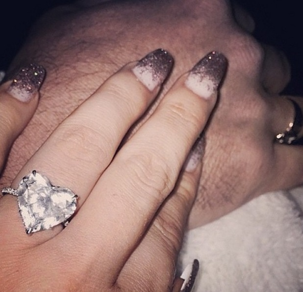 Lady Gaga shows off her engagement ring on Instagram 13 April